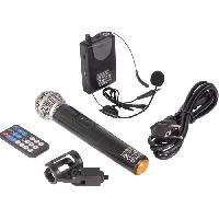 Sono - Dj IBIZA PORT12 UHF-WH-MKII - Systeme enceinte de sonorisation portable autonome 12?/30CM avec USB. Bluetooth et 2 micros UHF - Blanc