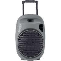 Sono - Dj IBIZA PORT12 VHF-GR-MKII - Systeme enceinte de sonorisation portable autonome 12?/30CM avec USB. Bluetooth et 2 micros VHF - Gris