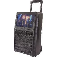 Sono - Dj IBIZA SOUND PORT-TFT12 - Enceinte portable autonome 12/30cm 800W - Ecran TFT Couleur 15''. Bluetooth. télécommande et 2 micros UHF