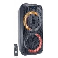Sono - Dj MADISON - ENCEINTE MAD-LUNA600 - 2 boomers - Lecteur USB. MicroSD. et Bluetooth - 2 entrées micro - Ecran LED
