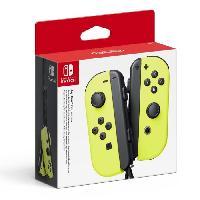 Sortie Accessoire De Jeu Manettes Joy-Cons Jaunes Neon pour Console Switch - Nintendo
