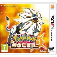 Sortie Jeux 3ds Pokemon Soleil Jeu 3DS