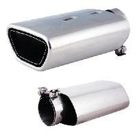 Sorties Echappement Sortie Echappement -Inox- Int 55-65mm - Ext 74x141mm - Long 220mm
