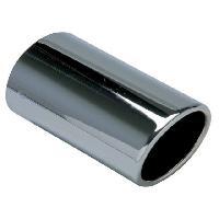 Sorties Echappement Sortie Echappement Ovale Universelle -Chrome- Int 51mm - Sortie 72x80mm - Long 180mm