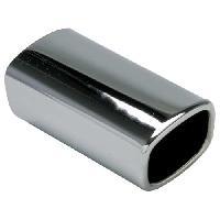 Sorties Echappement Sortie Echappement Rectangle -Chrome- Int 41x51mm - Ext 68x80mm - Long 170mm
