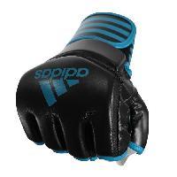 Sport De Combat - Arts Martiaux ADIDAS Gants MMA protection pouce - Noir et bleu - L