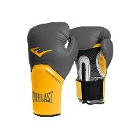 Sport De Combat - Arts Martiaux EVERLAST Gants de boxe Pro Style Elite - Avec velcro - Gris et orange - 16 Oz - Wilson