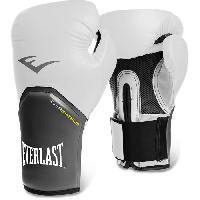 Sport De Combat - Arts Martiaux EVERLAST Gants de boxe Pro Style Elite - Mixte - Balnc - 8 Oz - Wilson