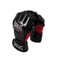 Sport De Combat - Arts Martiaux EVERLAST Gants d'entrainement de MMA - Noir brillant - Taille S/M - Wilson