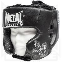 Sport De Combat - Arts Martiaux METAL BOXE Casque Entraînement - Enfant - Noir
