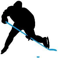 Sport De Glace NIJDAM Crosse de hockey sur glace 137 cm - Droit - Bleu