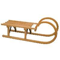 Sport De Glace NIJDAM Luge en bois RODEL avec poignées - 95 cm