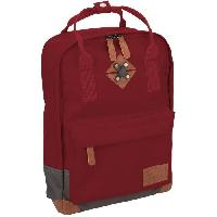 Sport De Montagne ABBEY Petit sac a dosen polyester 300T - Doublure 100 polyester - Dimensions 24 x 10 x 33cm - Rouge Bordeaux