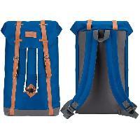 Sport De Montagne ABBEY Sac a dos scolaire - Fermeture aimantee - Cuir PU look vintage - 100 Polyester 300x300D - Bleu