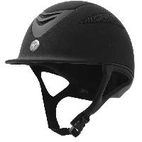 Sport Equestre EQUI-THEME Casque d'équitation air microfibre - noir - XL = 59 - 60 cm