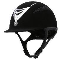 Sport Equestre EQUI-THEME Casque d'équitation air microfibre / cristal - noir - L = 57-58 cm