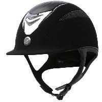 Sport Equestre EQUI-THEME Casque d'équitation air microfibre / cuir - noir - XL = 59 - 60 cm
