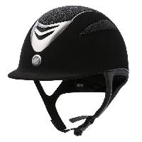Sport Equestre EQUI-THEME Casque d'équitation air microfibre / glitter - noir - XL = 59 - 60 cm