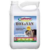 Sport Equestre SANITERPEN Désinfectant concentré Box Van Odor - Pour environnement des chevaux et habitat - 5 L