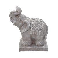 Statue - Statuette HOMEA Eléphant déco 33x18xH40 cm creme - Generique