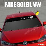 Sticker 894 pare-soleil POWERED BY VW Up Polo Golf Caddy Scirocco Beetle Run-R Stickers