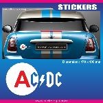 Sticker jeune conducteur ACDC Run-R Stickers