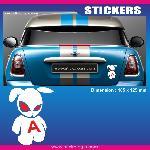 Sticker jeune conducteur LAPIN Run-R Stickers
