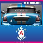 Sticker jeune conducteur TORTUE TRIBAL - Run-R Stickers
