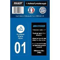 Stickers - Lettres Adhesives 1 Adhesif Moto Region Departement 01 AUVERGNE-RHONE-ALPES