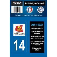 Stickers - Lettres Adhesives 1 Adhesif Moto Region Departement 14 NORMANDIE - ADNAuto