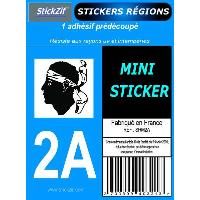 Stickers - Lettres Adhesives 1 Adhesif Moto Region Departement 2A CORSE