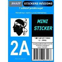 Stickers - Lettres Adhesives 1 Adhesif Moto Region Departement 2A CORSE - ADNAuto