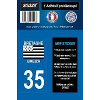 Stickers - Lettres Adhesives 1 Adhesif Moto Region Departement 35 BRETAGNEBREIZH