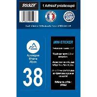 Stickers - Lettres Adhesives 1 Adhesif Moto Region Departement 38 AUVERGNE-RHONE-ALPES
