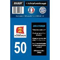 Stickers - Lettres Adhesives 1 Adhesif Moto Region Departement 50 NORMANDIE - ADNAuto