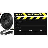 Stickers - Lettres Adhesives PLAGE Sticker déco ARDOISE - Clap cinéma1 Planche 46x100 cm