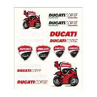 Stickers - Lettres Adhesives Stickers medium Ducati - Rouge et Noir