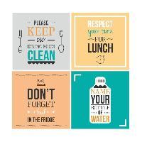Stickers - Lettres Adhesives WALL IMPACT Stickers Kitchen rules - 40x40x1 cm - Vinyle calandré monomérique