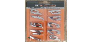 Stickers 3D 10 Lettres Chromees 3D Adhesives -QRST- N4 - BC Corona Generique