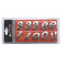 Stickers 3D 10 Lettres Chromees 3D Adhesives -qrst- N10 - BC Corona