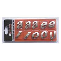 Stickers 3D 10 Lettres Chromees 3D Adhesives -qrst- N10 - BC Corona - ADNAuto