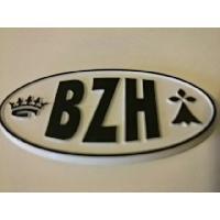 Stickers 3D Adhesif Sticker - Embleme BZH 3D - 4.5x7.4cm - Noir sur fond blanc - Breizh