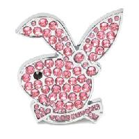 Stickers 3D Adhesif Sticker 3D - Evo Bunny diamant rose - BC Corona