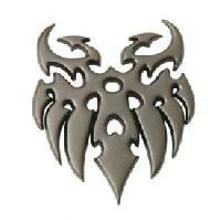 Stickers 3D Adhesif Sticker 3D - Gun Metal - Tattoo Generique