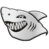 Stickers 3D Adhesif Sticker 3D - Requin - 6x8cm- BC Corona