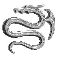 Stickers 3D Adhesif Sticker 3D Chrome - Dragon 1