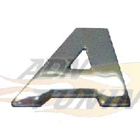 Stickers 3D Adhesif Sticker 3D Chrome - Lettre A - 23x27mm