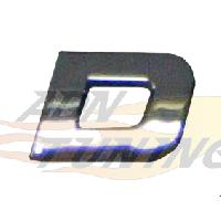 Stickers 3D Adhesif Sticker 3D Chrome - Lettre D - 23x27mm - ADNAuto
