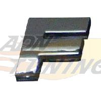 Stickers 3D Adhesif Sticker 3D Chrome - Lettre F - 23x27mm - ADNAuto