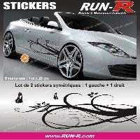 Stickers Filles Decoration sticker FLORAL ART 4 PAPILLONS - 1 METRE - NOIR - TOUS VEHICULES Run-R Stickers